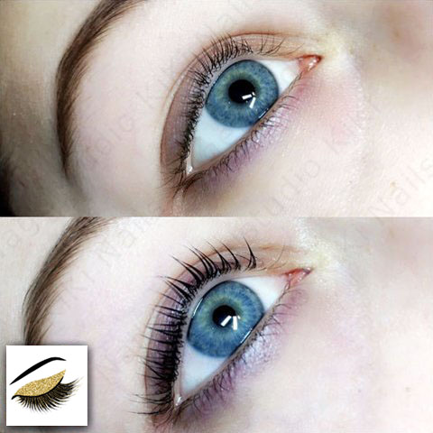 lash lifting - before and after